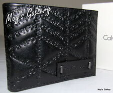 Calvin Klein Passcase Wallet BiFold lD Holder Leather Purse Bag case Men CK NIB