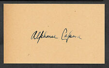 Al Capone Autograph Facsimile On Genuine Original Period 1920s 3X5 Card
