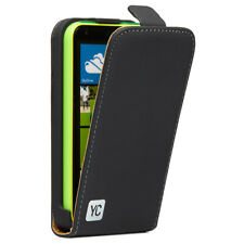 Microsoft Nokia Lumia 620 Hülle Tasche Flip Case Schutz Etui Cover YC schwarz
