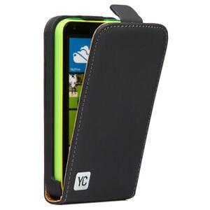 Handy Tasche Hülle für Microsoft Nokia Lumia 620 Flip Case Schutz Cover schwarz
