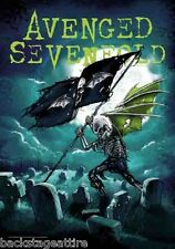 AVENGED SEVENFOLD A7X CEMETARY SKELLY Fabric Wall Cloth Poster Flag Tapestry-New