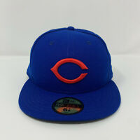 Chicago Cubs New Era 59Fifty Vintage Throwback Logo Fitted Hat Size 6 7/8