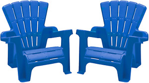 Adirondack Comfortable Lounge Chairs  Backyard Lawn Stackable Wide Armrests 2 Pc