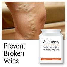 VEIN AWAY CAPILLARY & BLOOD VESSEL RECOVERY PILLS STOP VARICOSE VEINS CLEAR SKIN