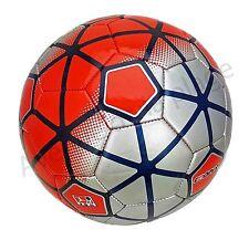 Ballon de football Cooper rouge et gris, balle de foot, ballons pas cher neuf