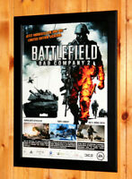 Battlefield Bad Company 2 Rare Small Poster / Ad Page Framed PS3, Xbox 360 Live