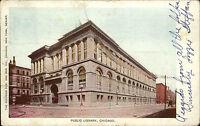 Chicago Amerika USA Illinois AK 1907 Public Library Bibliothek Bücherei gelaufen