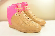 DS NIKE 2013 DUNK SKY HI VT QS VACHETTA TAN WEDGE 6 SAFARI ANIMAL LEOPARD