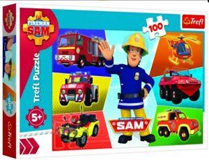 Puzzle Feuerwehrmann Sam - 100 Teile Sam 's Fahrzeug