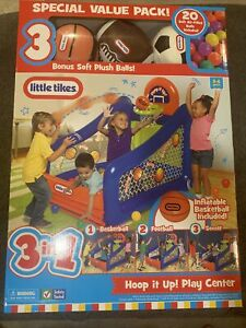 Little Tikes 3-in-1 Hoop It Up Play Center W/ 3 Bonus Plush Balls