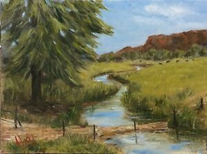"""""""Hedy"""" Original Oil Painting """"Capertee Valley"""" Canvas Board Unframed"""