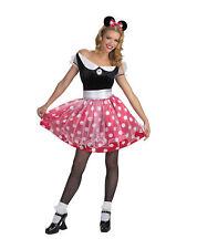 MINNIE MOUSE Red White Adult Costume Polka Dot Mascot