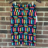 NWT LuLaRoe colorful Cassie pencil skirt Women's Size US XS