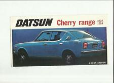 DATSUN CHERRY RANGE - SALOONS, ESTATE AND 120A COUPE SALES BROCHURE MID 70's
