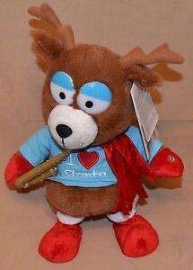 """15"""" Reindeer Side-Stepping Dancer Christmas Jingle Bells I Love Santa Dolls Toys"""