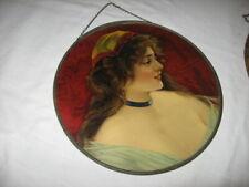 Antique Victorian Large Flue Cover Woman