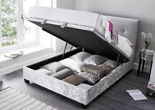 Crushed Silver Ottoman Storage Gas Lift 4ft6 Double Walkworth Bed Frame