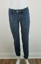 MIXIT Womens Slim Ankle Zip Jeans Size 6 Creased Stretch Skinny Flap Back Pocket