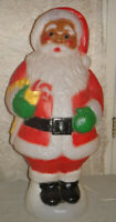 "31"" Black Santa Claus Christmas Blow Mold"