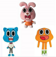 The Amazing World Of Gumball Sister Anais friend Darwin Plush toy Set of 3.NWT
