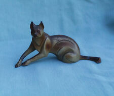 ART DECO STYLIZED AFRICAN CARACAL CAT MINIATURE SCULPTURE FIGURE c1920s