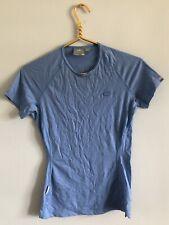 Icebreaker 100% Merino Wool Bodyfit 150 Slim Fit Light Blue Short Sleeve Shirt