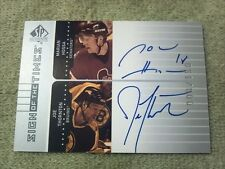 2001-02 SP Marian Hossa & Joe Thornton Dual Autograph #d /150 Senators Bruins