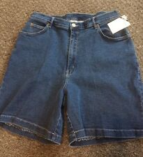 "Womans New Roaman's Blue Jean Shorts, Size H4 (34""), Fabulous!"