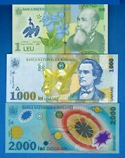 Romania P-106 P-111 P-117 Years 1998-2005 Uncirculated Banknotes Set # 1