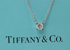 TIFFANY & CO PRINCESS DIAMOND 0.26 CTS J VS2 PENDANT NECKLACE SOLITAIRE PLATINUM