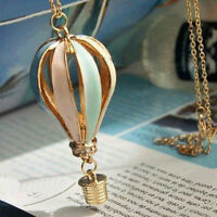 Womens Colorful Fire Balloon Necklace Hot Air Balloon Pendant Chain Better
