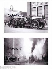 FDNY Nott Steam Pumper FIRE TRUCKS ENGINE 58 NYC 1911 2 Vintage Photos Free Ship