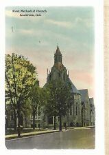 First M E Church Anderson In Mailed 1917 Methodist Episcopal Postcard 6103