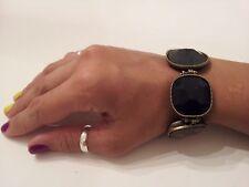 Unique Trending Chunky Dark Stones Toggle Bracelet