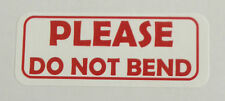 "*PLEASE DO NOT BEND"" Labels -  1"" x 2 5/8"" - ( 1200 Total ) -  30 per sheet"