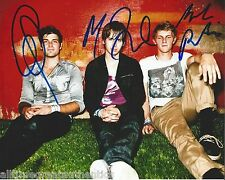 FOSTER THE PEOPLE HAND SIGNED AUTHENTIC 8X10 PHOTO w/COA X3 SUPERMODEL TORCHES