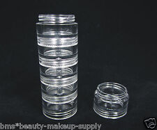 25 Stackable Cosmetic Jars Center Insert Mid Section Containers 5 Gram || 3215