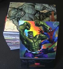 2007 MARVEL MASTERPIECES FOIL PARALLEL COMIC TRADING CARD SET , X MEN