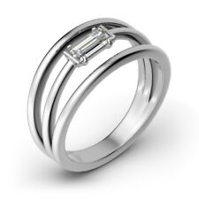 White Gold Size 5 6 7 D/Vvs1 0.60 Ct Diamond Engagement Solitaire Ring 14 K