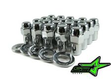 "25PC 7/16-20 CHROME MAG WHEEL LUG NUTS 1.0"" SHANK"