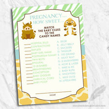 Lion king baby shower greeting cards invitations ebay lion king simba baby shower candy game cards jungle animal theme digital file filmwisefo Gallery