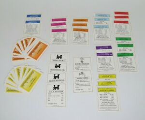 1998 Monopoly Deluxe Edition Game Replacement Cards Community Chest Chance Title