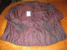NWT Jhane Barnes XXL Shirt Burgundy Men's Designer Luxury Metallic Rare $250