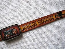 JOHN DEERE Tractor LEATHER BELT & Matching Leather Buckle -NEW!
