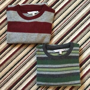 Fat Face Mens Size Medium Bundle Of 2 Grey Striped Wool Jumpers