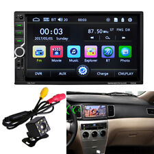 "7"" 2 DIN Bluetooth Touch Screen USB/TF/AUX Car Radio MP5 Player w/ 8LED Camera"