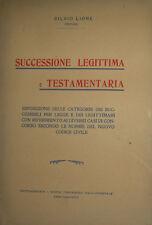 LIONE, SILVIO. Successione legittima e testamentaria pretore autografo diritto