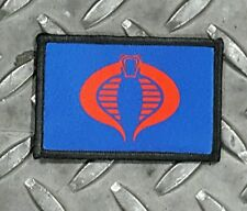 Cobra Blue Tactical Hook Military Morale Patch GI Joe Cosplay Comicon USA Made