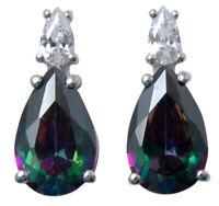 Indian Fashion 925 Pure Silver Alexandrite Stone Stud Earrings  Women Jewelry