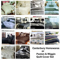 Quilt / Duvet Cover Set Canterbury Homewares / Paxton & Wiggin DOUBLE QUEEN KING